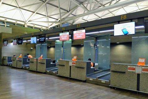仁川のチェジュ航空チェックインカウンター