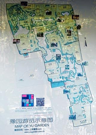 豫園の案内地図