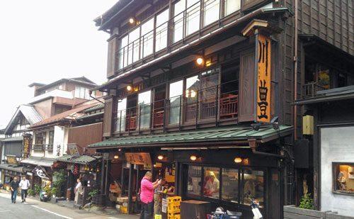 川豊本店の純日本風建物