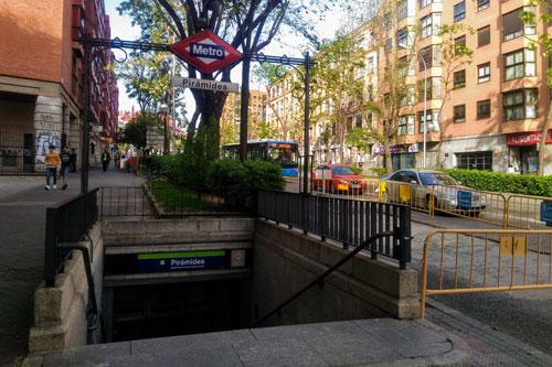 地下鉄5号線「ピラミデス駅」