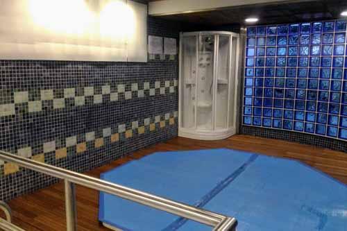 レアルマドリードのシャワールーム