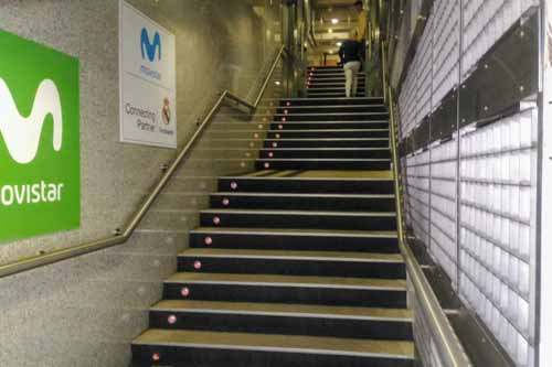 レアルマドリードのプレーヤーズトンネル