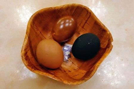 チムジルバンのゆで卵(3種)