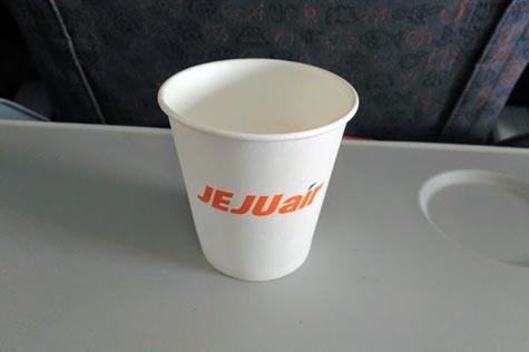 チェジュ航空の飲料水サービス