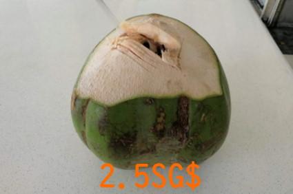 シンガポールのココナッツジュース