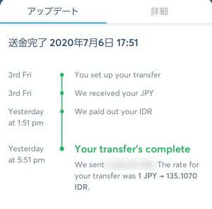 transferwiseでインドネシアに送金