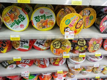 韓国のカップラーメン