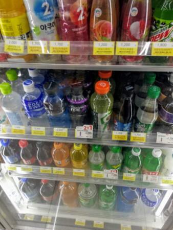 韓国のペットボトル飲料