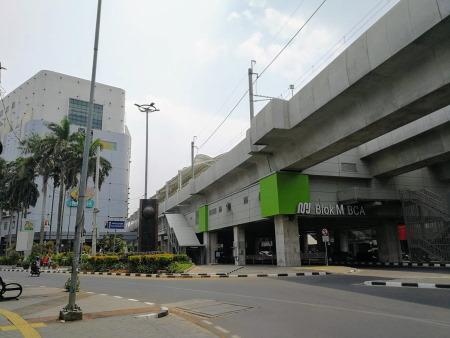 ジャカルタ都市高速鉄道(MRT)のブロックM駅とブロックMプラザ